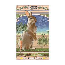 Art Nouveau Rabbit Decal