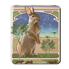 Art Nouveau Rabbit Mousepad