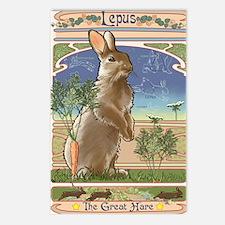 Art Nouveau Rabbit Postcards (Package of 8)