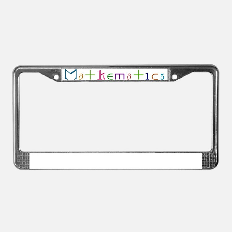 Mathematics License Plate Frame