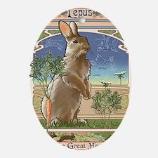 Art Nouveau Rabbit Oval Ornament