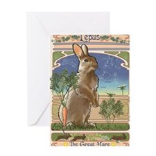 Art Nouveau Rabbit Greeting Card