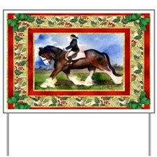Clydesdale Draft Horse Christmas Yard Sign
