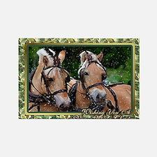 Norwegian Fjord Horse Christmas Rectangle Magnet