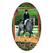 Swedish Warmblood Dressage Christma Decal
