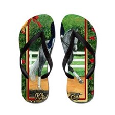Swedish Warmblood Dressage Christmas Flip Flops