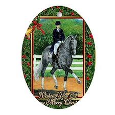 Swedish Warmblood Dressage Christmas Oval Ornament