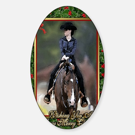 Quarter Horse Western Pleasure Chri Sticker (Oval)
