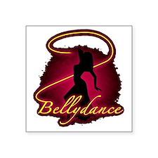 """Bellydance Square Sticker 3"""" x 3"""""""