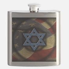 Jewish American Flask