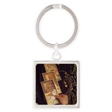Old Tarot Cards Square Keychain