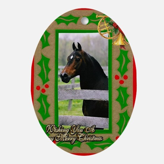 Morgan Horse Christmas Oval Ornament