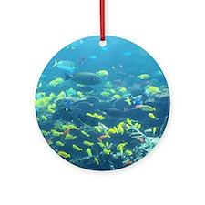 Atlanta Aquarium Round Ornament