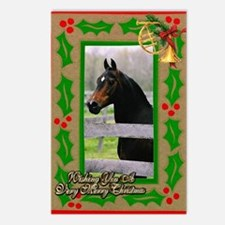 Morgan Horse Christmas Postcards (Package of 8)