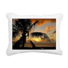 Sunset north shore Oahu Rectangular Canvas Pillow