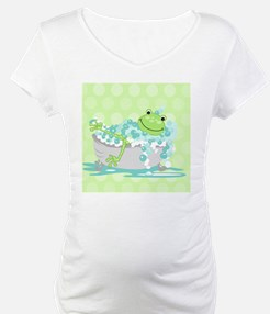 Frog in Tub Shower Curtain (Gree Shirt
