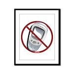 Anti-Cellphone Framed Panel Print