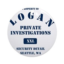 Property of Logan PI Round Ornament