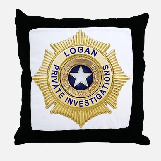 Logan PI Badge 6x6_pocket Throw Pillow