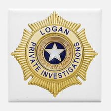 Logan PI Badge 6x6_pocket Tile Coaster