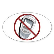 Anti-Cellphone Oval Decal