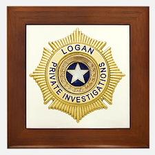 Logan PI Badge 6x6_pocket Framed Tile