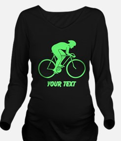 Cycling Design and Text. Green. Long Sleeve Matern