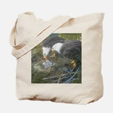Painted Eagle Family Puzzle Tote Bag