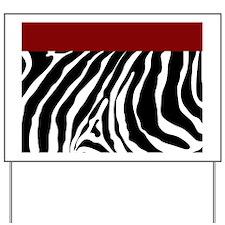 Trendy Zebra Stripe Shower Curtain (Red) Yard Sign