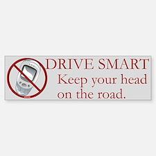 Anti-Cellphone Drive Smart Bumper Bumper Bumper Sticker