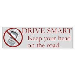 Anti-Cellphone Drive Smart Bumper Bumper Sticker