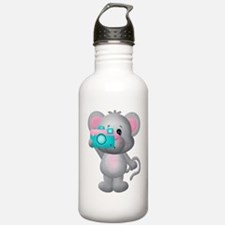 cute mouse with camera Water Bottle