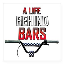 "A Life Behind Bars Square Car Magnet 3"" x 3"""