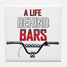 A Life Behind Bars Tile Coaster