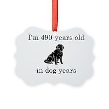 70 birthday dog years lab Ornament