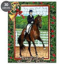 Dressage Horse Christmas Puzzle