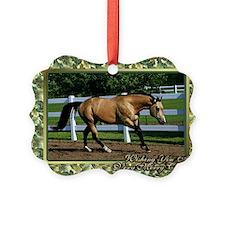 Buckskin Quarter Horse Christmas Ornament