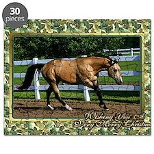 Buckskin Quarter Horse Christmas Puzzle