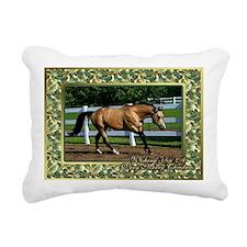 Buckskin Quarter Horse C Rectangular Canvas Pillow