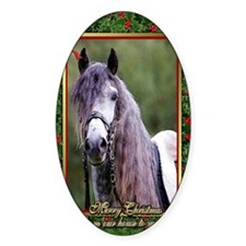Lusitano Dressage Horse Christmas Decal