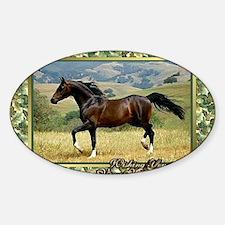 Morgan Horse Christmas Decal