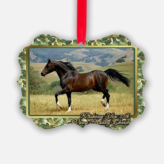 Morgan Horse Christmas Ornament