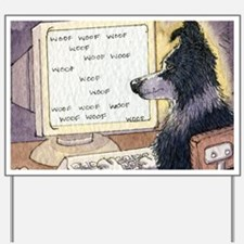 Border Collie dog writer Yard Sign
