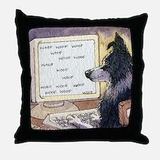 Border Collie dog writer Throw Pillow