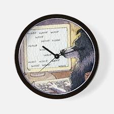 Border Collie dog writer Wall Clock