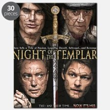 Night of the Templar 11x17 Small Block Post Puzzle