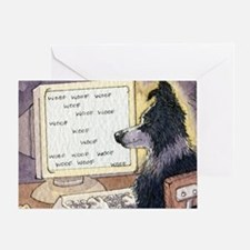 Border Collie dog writer Greeting Card