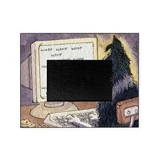 Border Collie dog writer Picture Frame