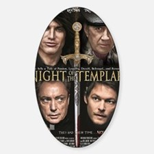 Night of the Templar Black Poster 2 Decal