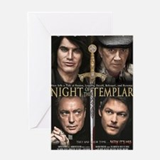 Night of the Templar Black Poster 23 Greeting Card